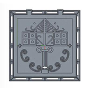 China wholesale Communication Manhole Cover - ORDINARY SQUARE MANHOLE COVER – Duspart
